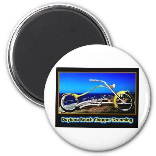 Interruptor de Daytona Beach que soña el negro T d Imán Redondo 5 Cm