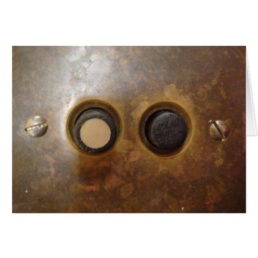 Interruptor de la luz del botón del Victorian Tarjetas