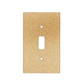 Interruptor de la luz en arena de la playa placa para interruptor