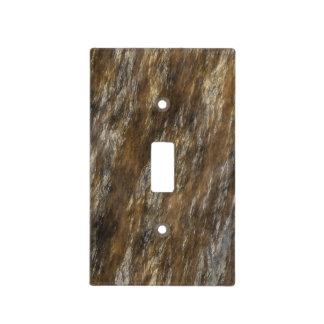Interruptor de la luz en Brown de piedra Placas Para Interruptor