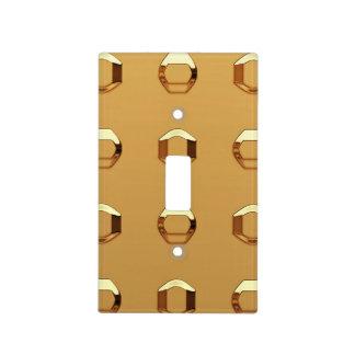 Interruptor de la luz en remaches del oro tapa para interruptor