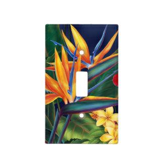 Interruptor de la luz floral hawaiano del paraíso placas para interruptor
