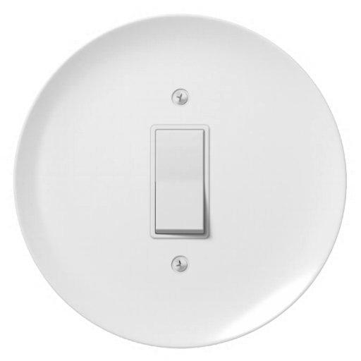 Interruptor de la luz plato