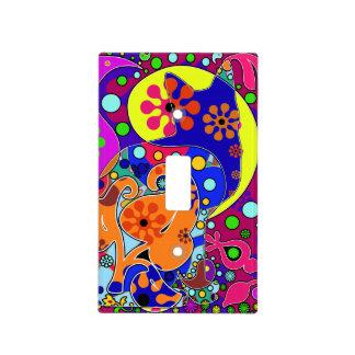 Interruptor de la luz retro de Paisley del flower Tapa Para Interruptor