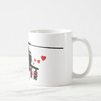 Interruptor del ataque de la máquina del amor tazas de café