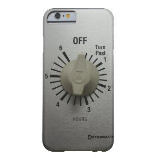 Interruptor Geeky divertido del contador de tiempo Funda De iPhone 6 Barely There