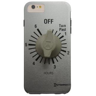 Interruptor Geeky divertido del contador de tiempo Funda Para iPhone 6 Plus Tough