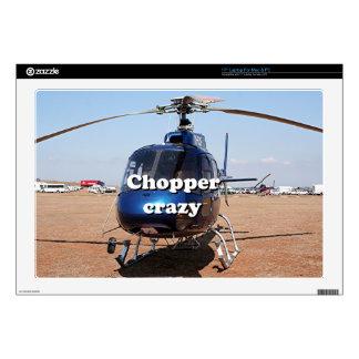 Interruptor loco: helicóptero azul skins para 43,2cm portátiles