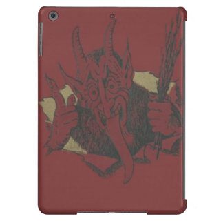 Interruptor rojo de la lengua de la sonrisa de funda iPad air