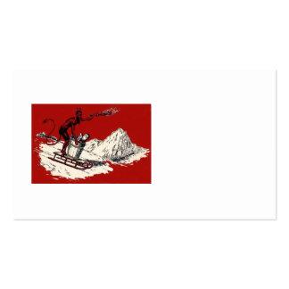 Interruptor rojo de la montaña del trineo de tarjeta de visita