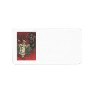 Interruptor rojo del comedor del chica de Krampus Etiquetas De Dirección