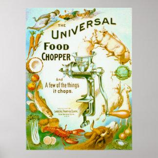Interruptor universal 1897 de la comida póster