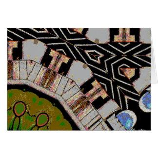 Intersección abstracta de las calles tarjeta de felicitación