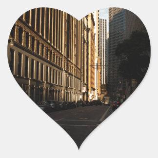 Intersección de la ciudad de San Francisco Pegatina En Forma De Corazón