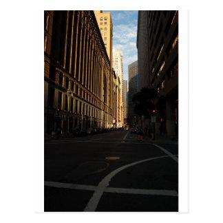 Intersección de la ciudad de San Francisco Tarjetas Postales