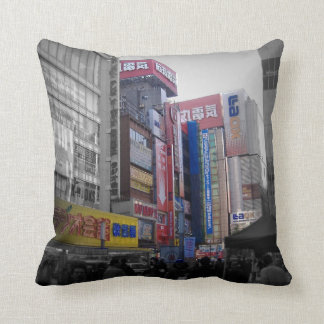 Intersección ocupada en Tokio Cojín
