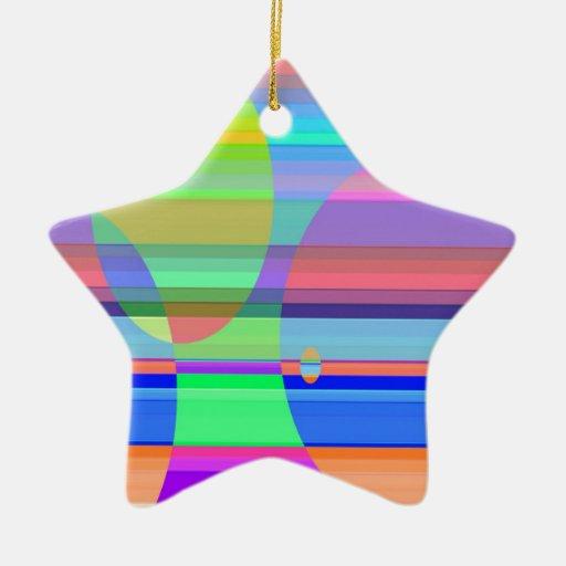 Intersección reconstruida adorno de cerámica en forma de estrella