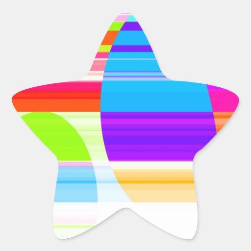 Intersección reconstruida pegatina en forma de estrella