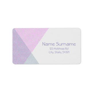 Intersecting Chevrons, address labels