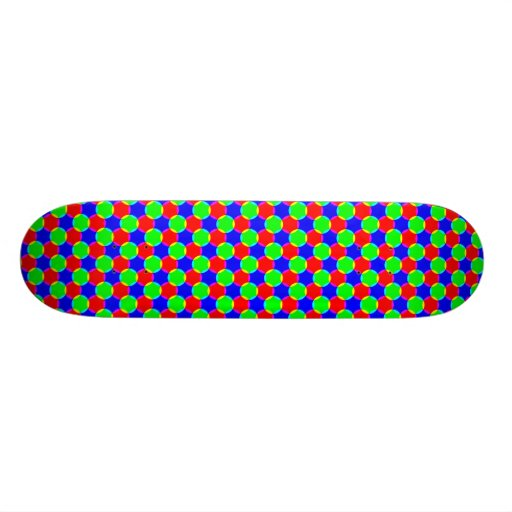 Intersecting circles skate deck