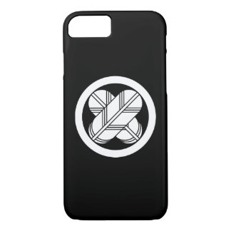 Intersecting hawk feathers in circle iPhone 8/7 case