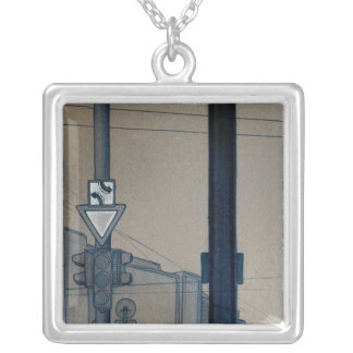intersection 4 square pendant necklace