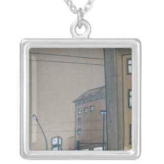 intersection 5 square pendant necklace