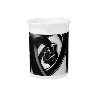 Intersection of 3-D spirals Drink Pitcher