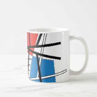 Intersection of Lines & Planes - Abstract Art Coffee Mug