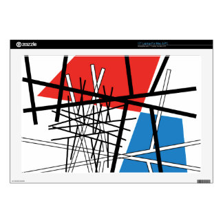 """Intersection of Lines & Planes - Abstract Art Decals For 17"""" Laptops"""