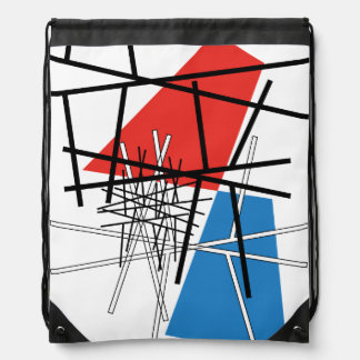 Intersection of Lines & Planes - Abstract Art Drawstring Bag
