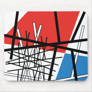 Intersection of Lines & Planes - Abstract Art Mouse Pad