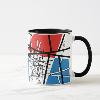 Intersection of Lines & Planes - Abstract Art Mug