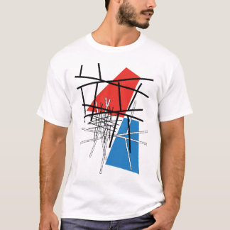 Intersection of Lines & Planes - Abstract Art T-Shirt