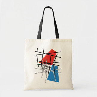 Intersection of Lines & Planes - Abstract Art Tote Bag