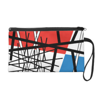 Intersection of Lines & Planes - Abstract Art Wristlet