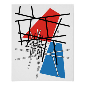 Intersection of Lines & Planes Poster