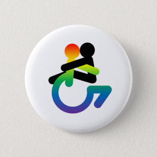 Intersectionality: Queer - Disabled - Lover Pinback Button