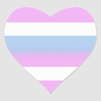 Intersex flag stickers - hearts