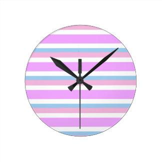 Intersex Pride Flag Round Clock