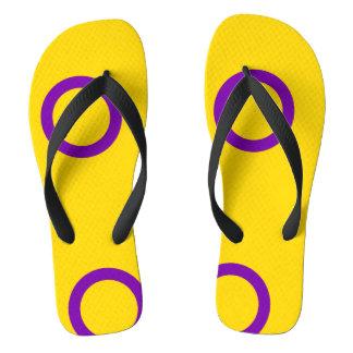 Intersex Pride Flip Flops