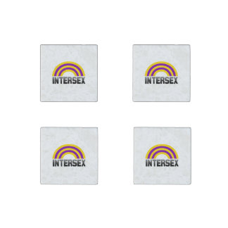 Intersex Pride Stone Magnet