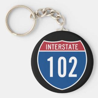 Interstate 102 keychains