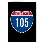 Interstate 105 greeting card