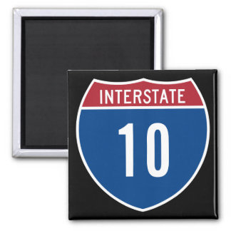 Interstate 10 2 inch square magnet