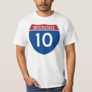 Interstate 10 (I-10) Highway Sign T Shirt