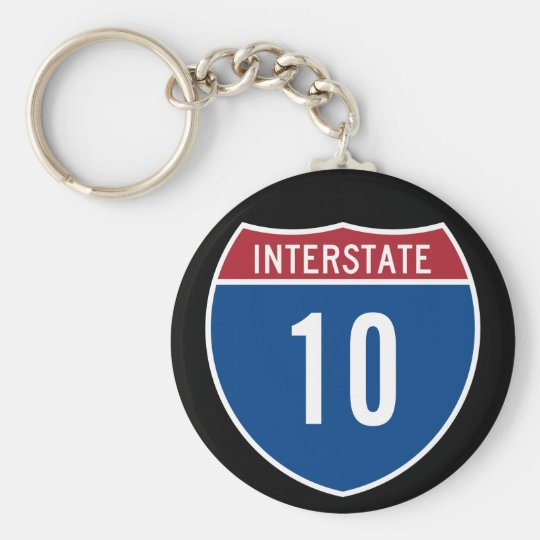 Interstate 10 keychain