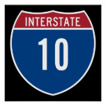 Interstate 10 posters