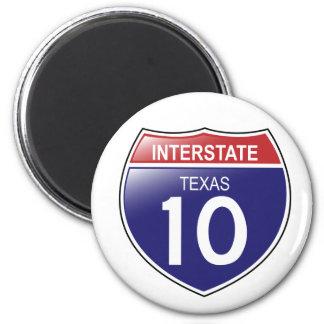 Interstate 10 Texas Magnet