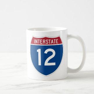 Interstate 12 Highway Sign Coffee Mug